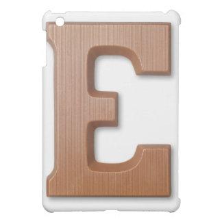 Chocolate letter e iPad mini cases