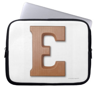 Chocolate letter e laptop sleeve
