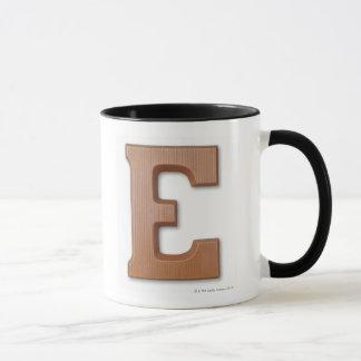 Chocolate letter e mug
