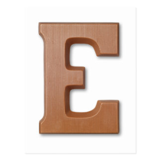 Chocolate letter E Postcard