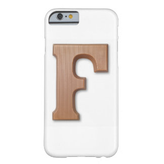 Chocolate letter f barely there iPhone 6 case