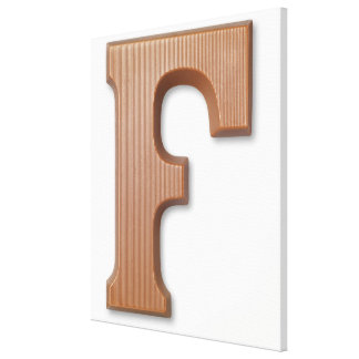 Chocolate letter f gallery wrapped canvas