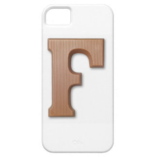 Chocolate letter f iPhone 5 cover