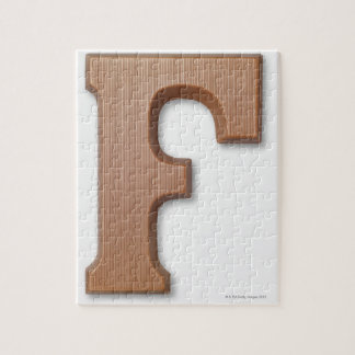 Chocolate letter f jigsaw puzzle
