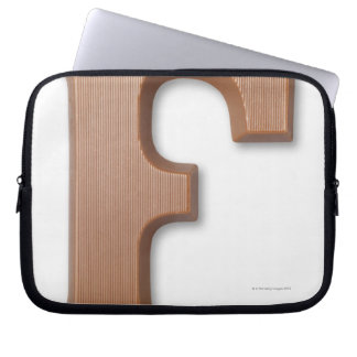 Chocolate letter f laptop sleeve