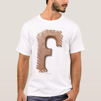 Chocolate letter f T-Shirt