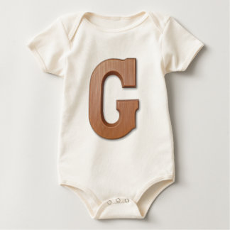 Chocolate letter G Baby Bodysuit