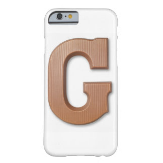 Chocolate letter g barely there iPhone 6 case