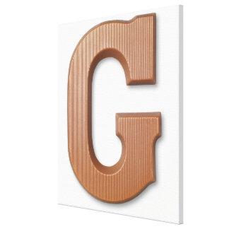 Chocolate letter g canvas prints