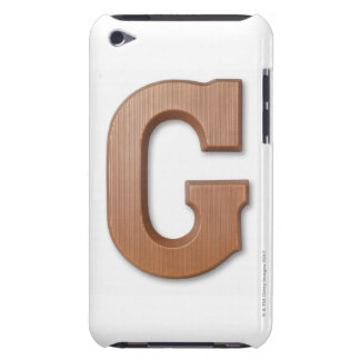 Chocolate letter g iPod touch case