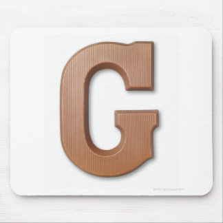 Chocolate letter g mouse pad