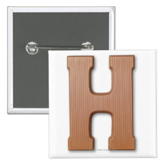 Chocolate letter h 15 cm square badge