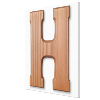 Chocolate letter h gallery wrap canvas
