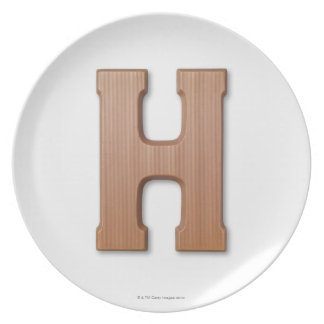 Chocolate letter h plate