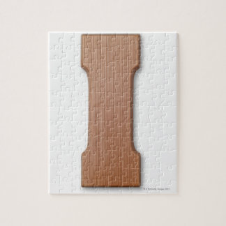 Chocolate letter i jigsaw puzzle
