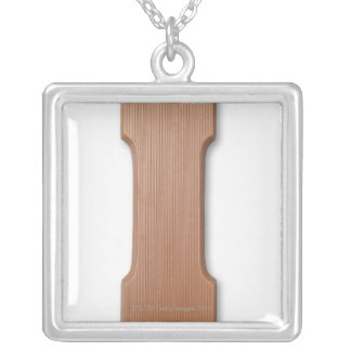 Chocolate letter i silver plated necklace