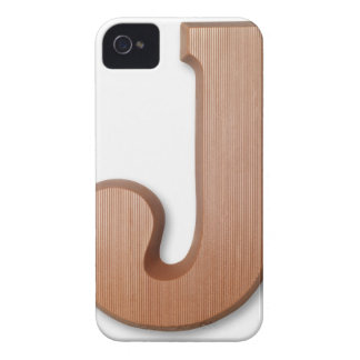 Chocolate letter j iPhone 4 Case-Mate cases