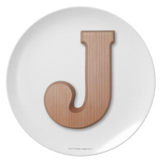 Chocolate letter j plate