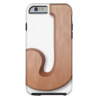 Chocolate letter j tough iPhone 6 case