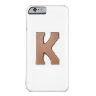 Chocolate letter k barely there iPhone 6 case