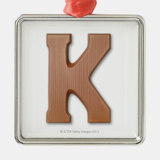 Chocolate letter k christmas ornament