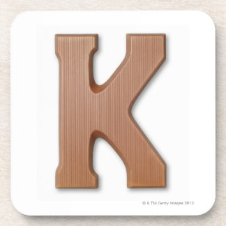 Chocolate letter k drink coasters