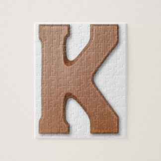 Chocolate letter k jigsaw puzzle