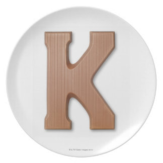 Chocolate letter k plate