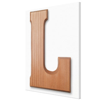Chocolate letter l canvas print