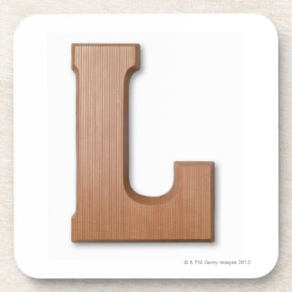 Chocolate letter l coaster