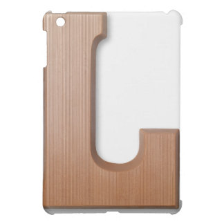 Chocolate letter l iPad mini cover