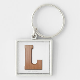 Chocolate letter l key ring