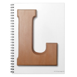 Chocolate letter l notebook
