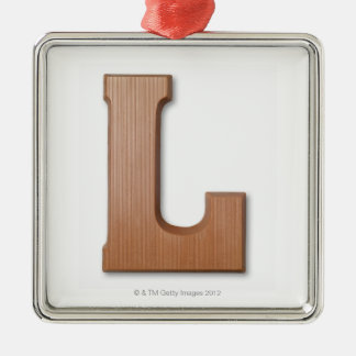 Chocolate letter l Silver-Colored square decoration