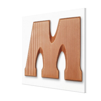 Chocolate letter m gallery wrapped canvas