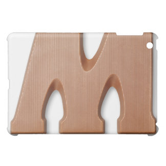 Chocolate letter m iPad mini case