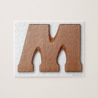 Chocolate letter m jigsaw puzzle