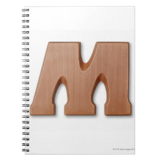 Chocolate letter m note books