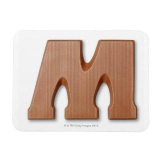 Chocolate letter m rectangular photo magnet