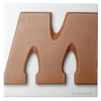Chocolate letter m tile