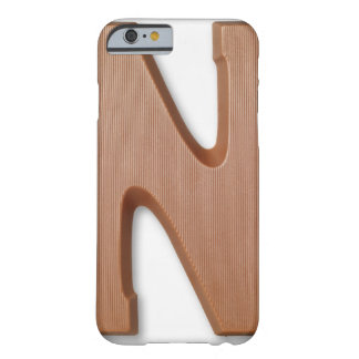Chocolate letter n barely there iPhone 6 case