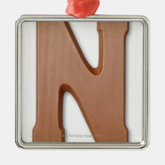 Chocolate letter n christmas ornament
