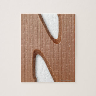 Chocolate letter n jigsaw puzzle