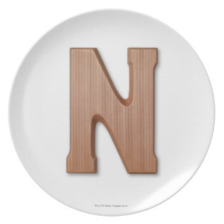 Chocolate letter n plate