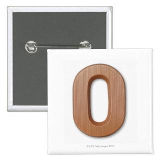 Chocolate letter o 15 cm square badge