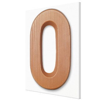 Chocolate letter o stretched canvas prints
