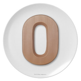 Chocolate letter o plate