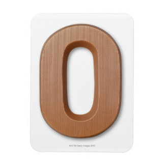 Chocolate letter o rectangular photo magnet