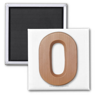 Chocolate letter o square magnet