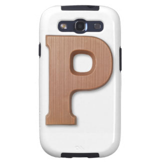 Chocolate letter p galaxy s3 case